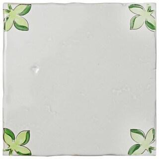 SomerTile 5.125x5.125-inch Nove Taco Paterna Ceramic Wall Tile (3 tiles)