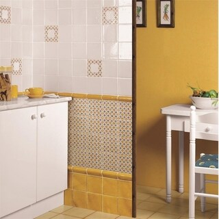 SomerTile 1.625x5.125-inch Nove Camel Bordura Ceramic Wall Trim Tile (6 tiles)