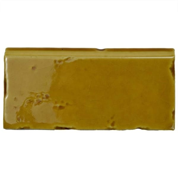 Shop SomerTile Xinch Nove Camel Zocalo Ceramic Wall Trim - 5x5 inch tiles