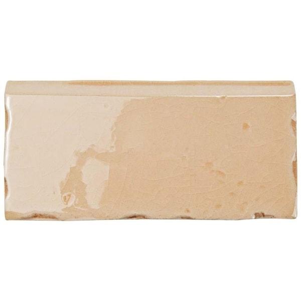 Shop SomerTile Xinch Nove Canela Zocalo Ceramic Wall Trim - 5x5 inch tiles