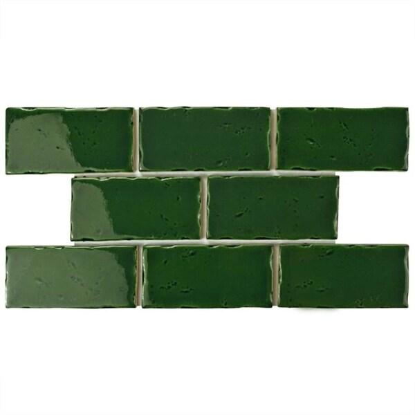 Shop SomerTile Xinch Nove Verdin Subway Ceramic Wall Tile - 5x5 inch tiles