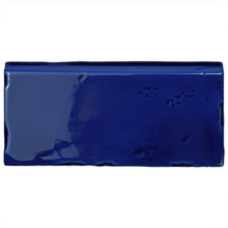 SomerTile 2.5x5.125-inch Nove Cobalto Zocalo Ceramic Wall Trim Tile (6/Pack)