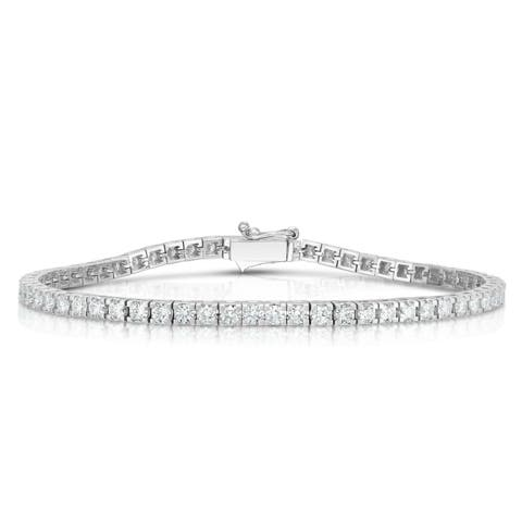 Noray Designs 14K White Gold Diamond (2.60 Ct, G-H Color, SI2-I1 Clarity) Tennis Bracelet