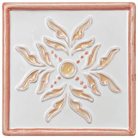 SomerTile 5.13x5.13-inch Nove Canela Taco Evoli Ceramic Wall Tile