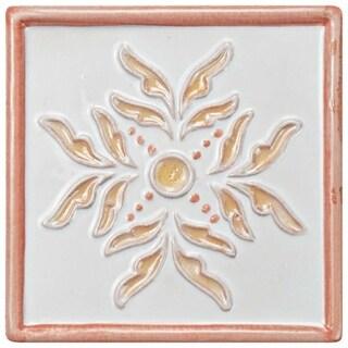 SomerTile 5.25x5.25-inch Nove Canela Taco Evoli Ceramic Wall Tile (3 tiles)