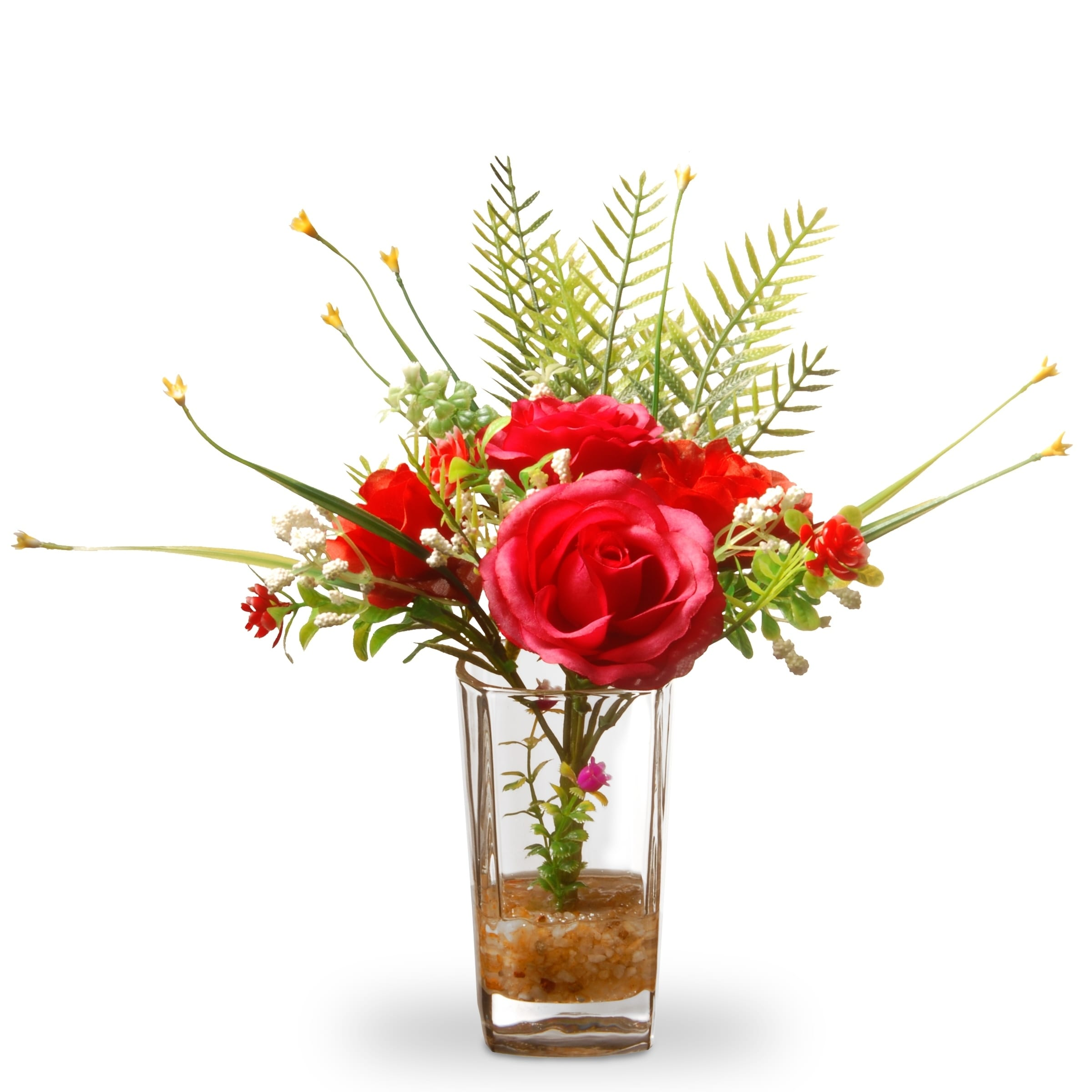 12 Red Rose Flowers
