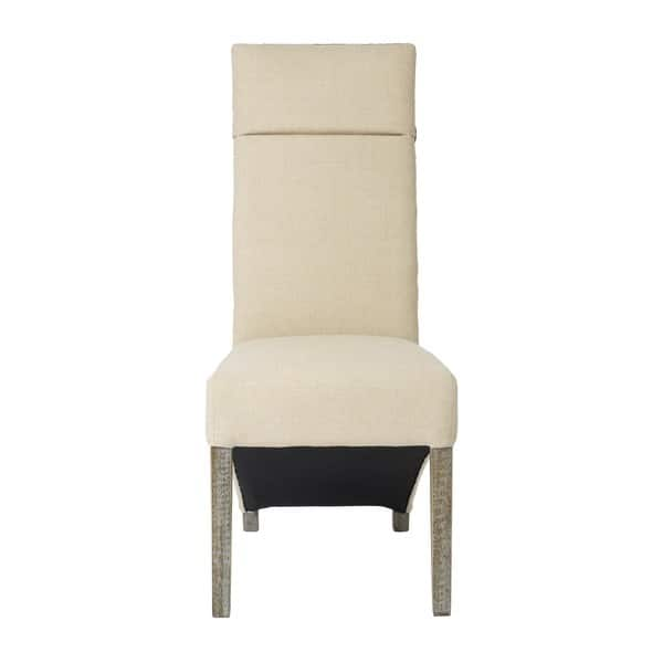 Corbel Linen Weave Back Dining Chair Set Of 2 Overstock 17355483