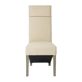 Corbel Linen Weave-Back Dining Chair (Set of 2)