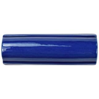 SomerTile 1.625x5.125-inch Nove Cobalto Bordura Ceramic Wall Trim Tile (6/Pack)