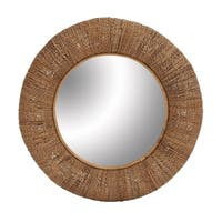 Studio 350 Wood Rattan Mirror 36 inches D