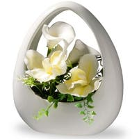 """9"""" White Orchid and Calla Lily Flowers"""