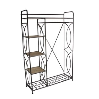 Studio 350 Metal Wood Clothes Rack 46 inches wide, 70 inches high