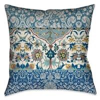 """Laural Home Royal Boho Blue Tapestry Indoor Decorative Pillow 18""""X18"""""""