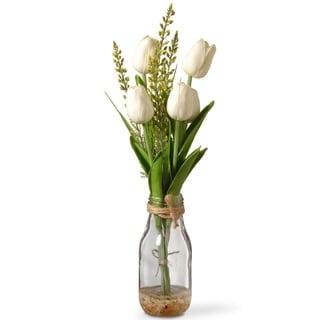 "14"" White Tulip Flowers"
