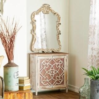 Farmhouse 31 Inch Rectangular 2-Door Wooden Cabinet by Studio 350