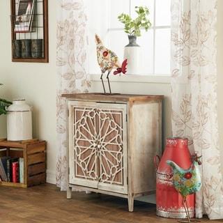 Farmhouse 31 x 28 Inch Rectangular Wooden Cabinet by Studio 350