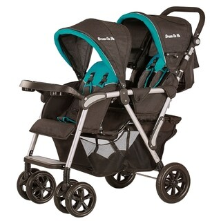 Dream On Me, Villa Tandem Stroller in Black and Sapphire Blue