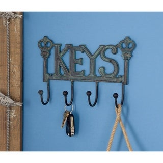 Farmhouse 7 x 11 Inch Rustic Keys Metal Wall Hook by Studio 30