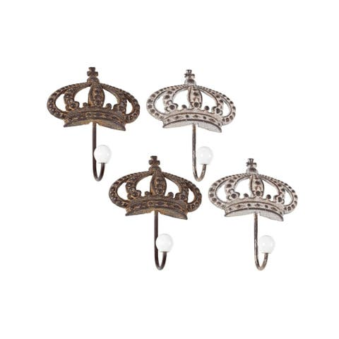 Studio 350 Metal Wall Hook Set of 4, 5 inches wide, 7 inches high