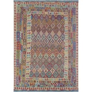 Sangat Kilim Tordil Beige/Blue Rug (8'6 x 11'10)