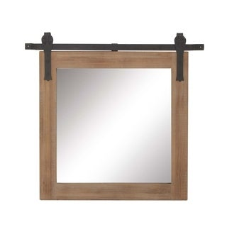 Studio 350 Wood Metal Wall Mirror 34 inches wide, 31 inches high