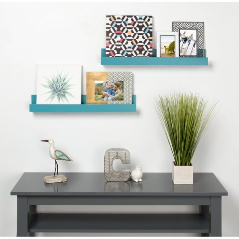 Kate and Laurel Levie 24 inch 2-Pack Wood Wall Picture Frame Holder Ledge