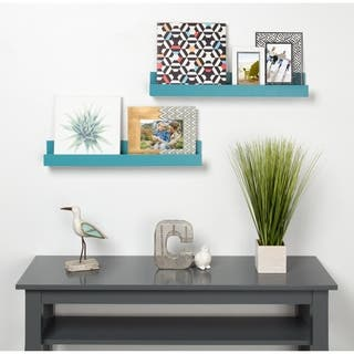 Kate and Laurel Levie 24 inch 2-Pack Wood Wall Picture Frame Holder Ledge|https://ak1.ostkcdn.com/images/products/17356883/P23599753.jpg?impolicy=medium