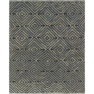 Winchester Nafisa Grey/Blue Rug (6'0 x 7'7)