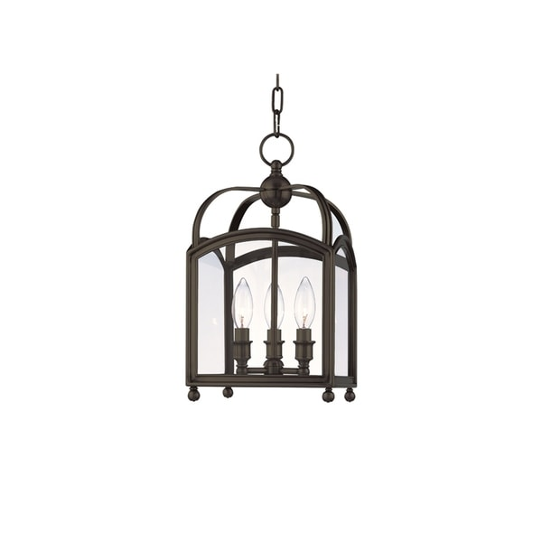 Hudson Valley Millbrook Distressed Bronze Metal 3-light Pendant