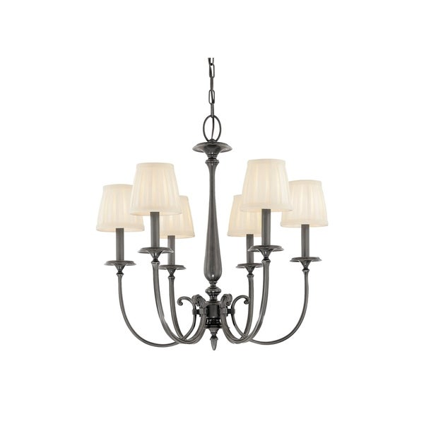 Hudson Valley Jefferson Antique Nickel Metal 6-light Chandelier
