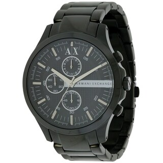 Armani Exchange Black Stainless Steel Mens Watch AX2138