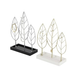 Studio 350 Metal Wood Jewel Holder Set of 2, 10 inches wide, 13 inches high