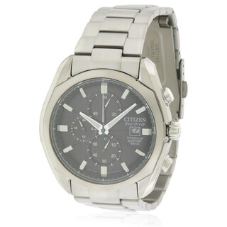 Citizen Eco-Drive Titanium Chronograph Mens Watch CA0020-56E