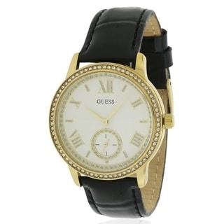 GUESS Gold-Tone Leather Ladies Watch U0642L2