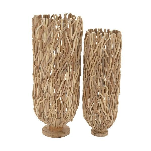 Studio 350 Driftwood Floor Vase Set Of 2 40 Inches 36 High
