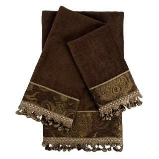 Sherry Kline China art Brown/Brown Decorative Embellished Towel Set