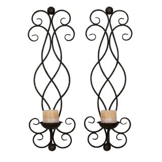 Studio 350 Metal Candle Sconce Set of 2, 25 inches high, 8 inches wide
