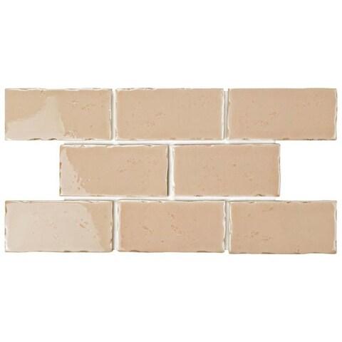 SomerTile 2.5x5.125-inch Nove Canela Subway Ceramic Wall Tile (60 tiles/6.16 sqft.)