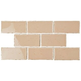 SomerTile 2.5x5.125-inch Nove Canela Subway Ceramic Wall Tile (60 tiles/6.16 sqft.)