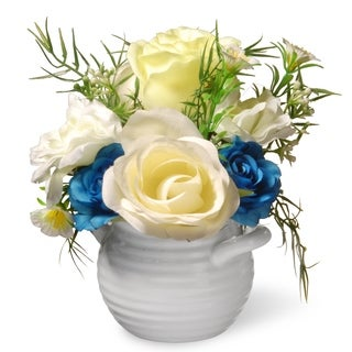 """7"""" Potted Rose Flowers"""