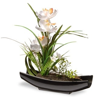 """12"""" White Orchid Flowers"""