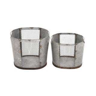 Studio 350 Metal Wire Basket Set of 2, 12 inches, 10 inches high
