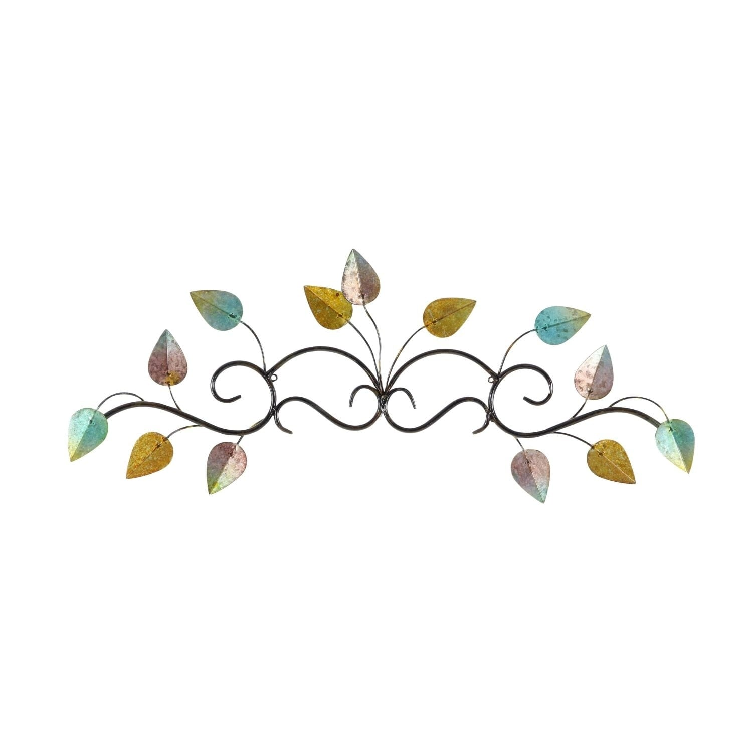 and insight outdoor metal unbeatable art leaf most scroll wall round decor small wood