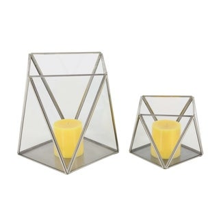 Carson Carrington Alavus 2-piece Metal Glass Candle Holder Set