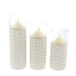 Oliver & James Buri Ceramic Glass Candle Holder (Set of 3)