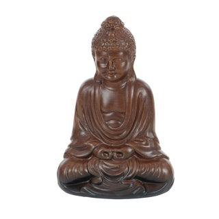 The Curated Nomad Castenada Ceramic Meditating Buddha Statuette