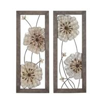 Studio 350 Metal Wall Decor Set of 2, 16 inches wide, 40 inches high