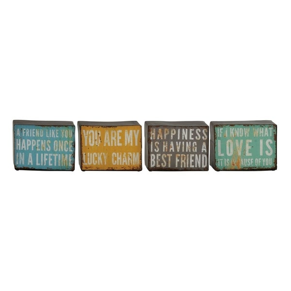 Studio 350 Metal Wall Decor Set of 4, 5 inches wide, 7 inches high