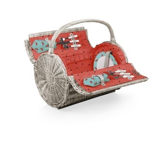 PICNIC TIME® 'Barrel' Picnic Basket, (Watermelon Collection)