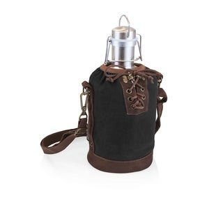LEGACY® Insulated Black & Brown Growler Tote with 64-oz. Stainless Steel Growler